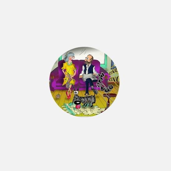 1548_dog_cartoon Mini Button