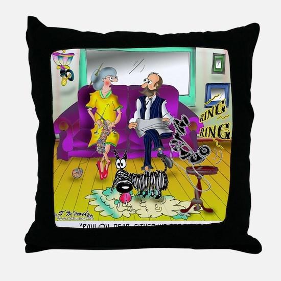 1548_dog_cartoon Throw Pillow