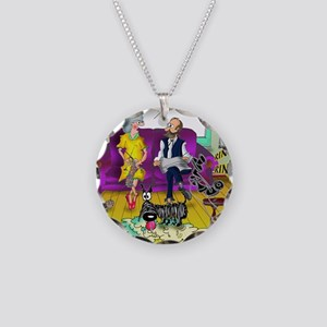 1548_dog_cartoon Necklace Circle Charm