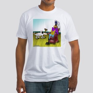 2709_disabled_cartoon Fitted T-Shirt