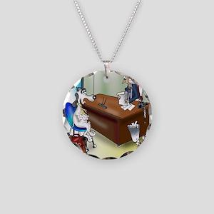 5258_banking_cartoon Necklace Circle Charm
