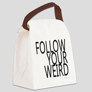 follow-your-weir-block-black Canvas Lunch Bag