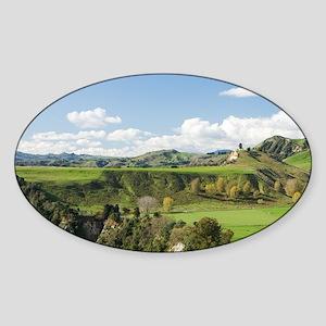 Rangitikei River and Farmland near  Sticker (Oval)