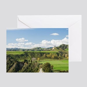Rangitikei River and Farmland near M Greeting Card