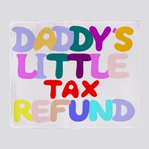funny bib tax refund Throw Blanket