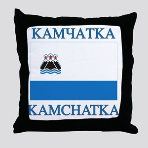 Kamchatka Flag Throw Pillow