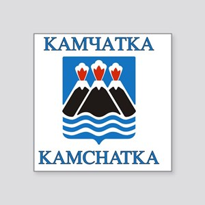 "Kamchatka Coat of Arms Square Sticker 3"" x 3"""
