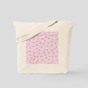 Pink Paws  Bones ipad Tote Bag