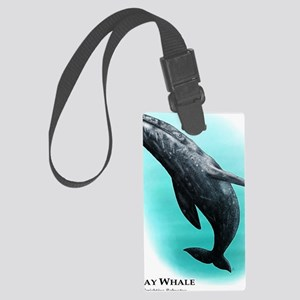 Gray Whale Large Luggage Tag
