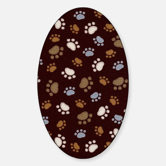 dog-c5856-brown Sticker (Oval)