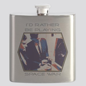 Id Rather Be Playing Space War Flask