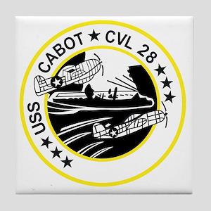 CVL-28 USS CABOT Multi-Purpose Light  Tile Coaster
