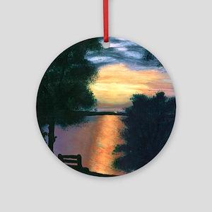Mitiwanga sunset card Round Ornament