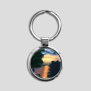 Mitiwanga sunset card Round Keychain