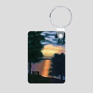 Mitiwanga sunset card Aluminum Photo Keychain
