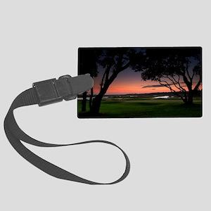 myrtle beach sunset Large Luggage Tag