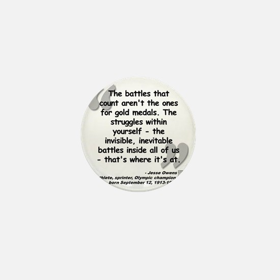 Owens Battles Quote Mini Button