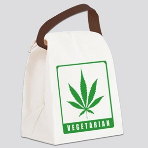 weedLeafVegetarian3 Canvas Lunch Bag