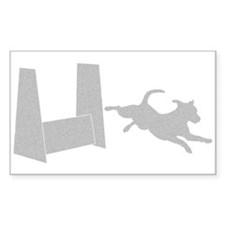Flyball Shadow Rectangle Sticker