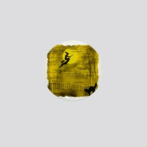 Halloweengold_sq_framed Mini Button