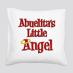 Abuelitas Little Angel Square Canvas Pillow