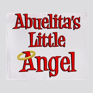 Abuelitas Little Angel Throw Blanket