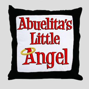 Abuelitas Little Angel Throw Pillow