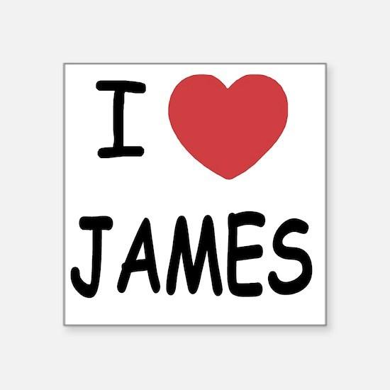 "JAMES Square Sticker 3"" x 3"""