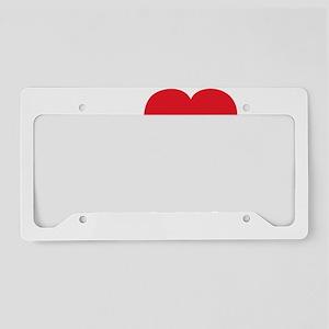 ILOVEmygirl2 License Plate Holder