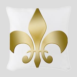 Fleur Gold Woven Throw Pillow