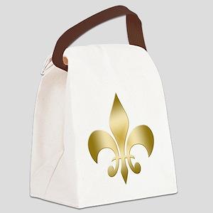 Fleur Gold Canvas Lunch Bag