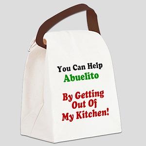 Funny Abuelito Apron Canvas Lunch Bag