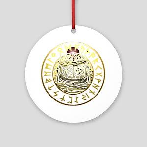 rune ship shield. Round Ornament