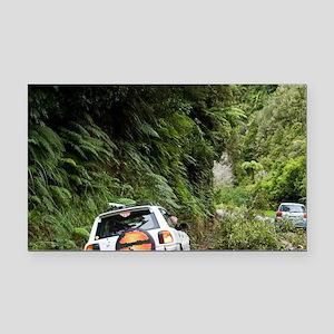 Fallen Tree Blocking Road, Ta Rectangle Car Magnet
