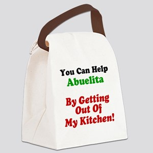 Abuelita Out Of My Kitchen Canvas Lunch Bag