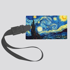 starry night coin purse Large Luggage Tag