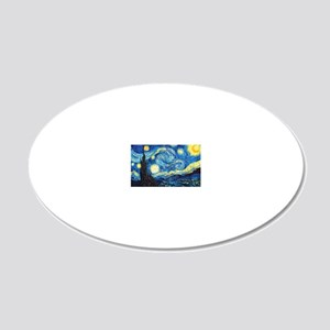 starry night coin purse 20x12 Oval Wall Decal