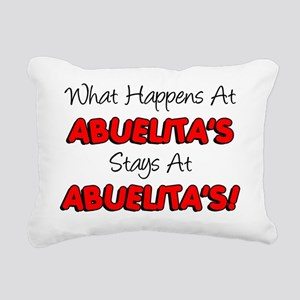 What Happens At Abuelita Rectangular Canvas Pillow