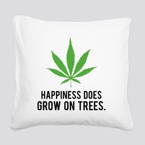 weedLeafHappiness1 Square Canvas Pillow