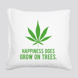 weedLeafHappiness2 Square Canvas Pillow