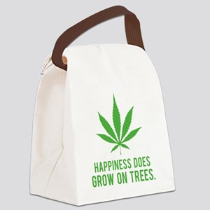 weedLeafHappiness2 Canvas Lunch Bag