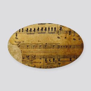 torn music coin purse Oval Car Magnet