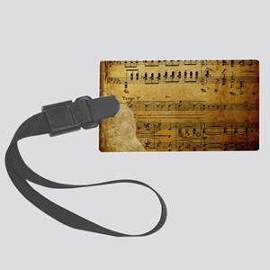 torn music coin purse Large Luggage Tag