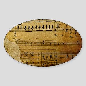 torn music coin purse Sticker (Oval)