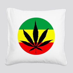 weedLeafflag2 Square Canvas Pillow