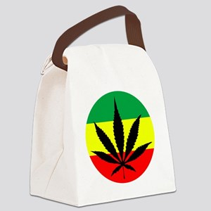 weedLeafflag2 Canvas Lunch Bag