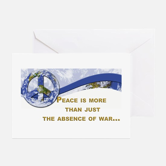 Peace is About More.,.. Greeting Cards (Package of