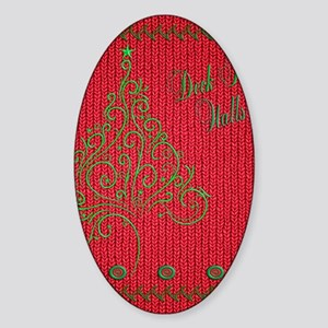 Knit_Red_DeckTW_ipadSkin Sticker (Oval)