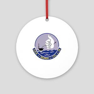 CVL-48 A USS SAIPAN Multi-Purpose L Round Ornament