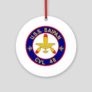 CVL-48 USS SAIPAN Multi-Purpose Lig Round Ornament